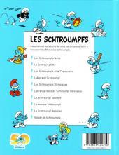Verso de Les schtroumpfs (Édition 50 ans - minis) -1Mini- Les Schtroumpfs noirs (et le Schtroumpf volant)