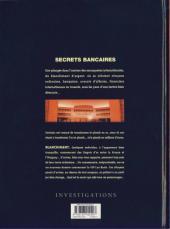 Verso de Secrets bancaires -3- Blanchiment