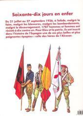Verso de Le siège de l'Alcazar - 70 jours en enfer