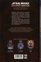 Verso de Star Wars - Le côté obscur -4- Général Grievous