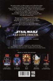 Verso de Star Wars - Le côté obscur -5- Le destin de Dark Vador