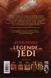 Verso de Star Wars - La légende des Jedi -5- La Guerre des Sith