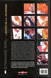 Verso de Strange Girl -1- L'enfer de la jeunesse