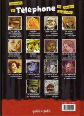 Verso de Chansons en Bandes Dessinées  - Chansons de Téléphone en bandes dessinées