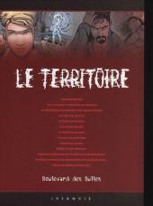 Verso de Le territoire -2TL- Hypnose