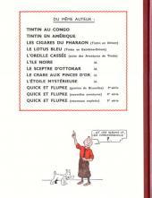 Verso de Tintin (Fac-similé N&B) -8a- Le sceptre d'Ottokar