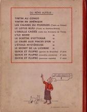 Verso de Tintin (Historique) -7A20- L'île noire