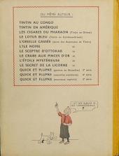 Verso de Tintin (Historique) -9A23- Le crabe aux pinces d'or
