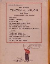 Verso de Tintin (Historique) -12A24- Le trésor de Rackham Le Rouge