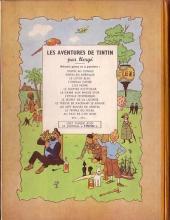 Verso de Tintin (Historique) -15B04- Au pays de l'or noir
