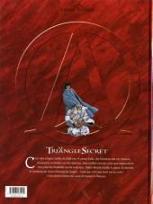 Verso de Le triangle Secret -2- Le jeune homme au suaire