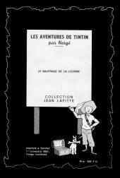 Verso de Tintin - Pastiches, parodies & pirates -10pira- Le Naufrage de la Licorne