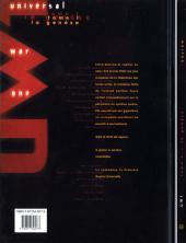 Verso de Universal War One -1- La genèse