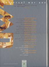 Verso de Universal War One -4COF- Le déluge