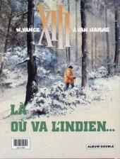 Verso de XIII (France Loisirs - Album Double) -1- Le jour du soleil noir / Là où va l'indien...