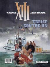 Verso de XIII (France Loisirs - Album Double) -4- La nuit du 3 août / Treize contre un