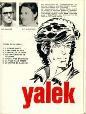 Verso de Yalek -7- Le maître de Bannock