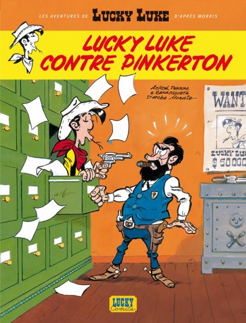 Couverture de Lucky Luke (Les aventures de) -4- Lucky Luke contre Pinkerton