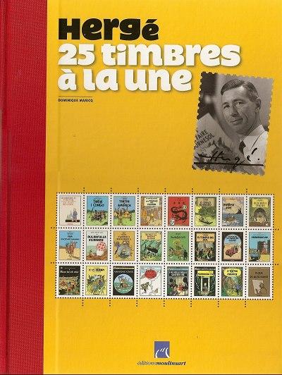 Couverture de Tintin - Divers -52TL- Hergé, 25 timbres à la une
