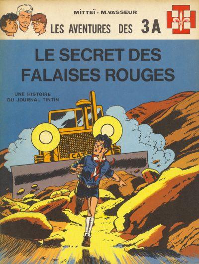 Couverture de 3 A (Les aventures des) -3- Le secret des falaises rouges