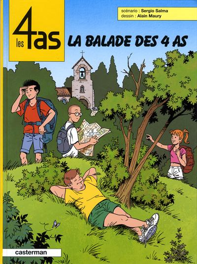 Couverture de Les 4 as -43- La balade des 4 as