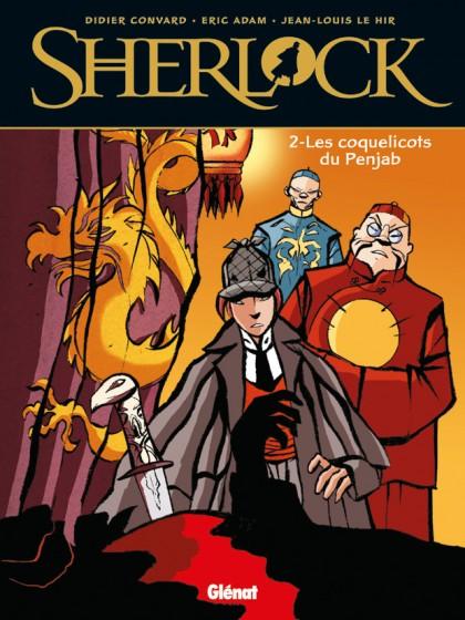 Couverture de Sherlock (Convard & Le Hir) -2- Les Coquelicots du Penjab