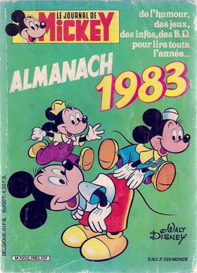 Couverture de Almanach du Journal de Mickey -27- Année 1983