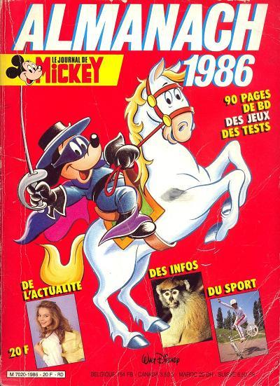 Couverture de Almanach du Journal de Mickey -30- Année 1986