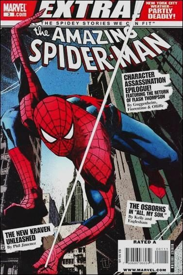 Couverture de Amazing Spider-Man (The): Extra! (2008) -3- Character assassination : coda / loose ends / nice things