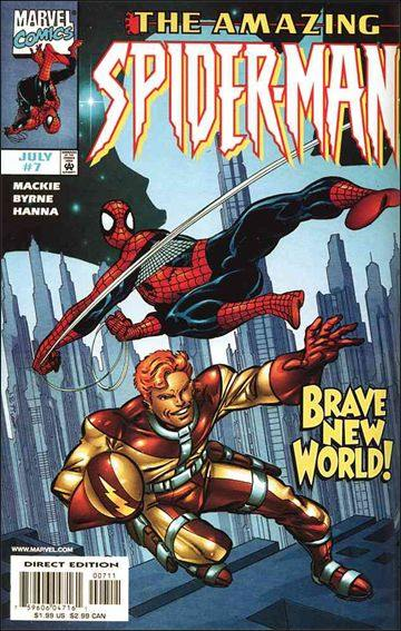 Couverture de Amazing Spider-Man (The) Vol.2 (Marvel comics - 1999) -7- The perfect world part 1 : heroes and villains
