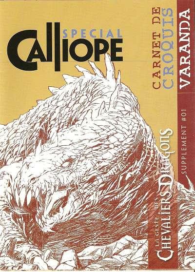 Couverture de La geste des Chevaliers Dragons -HS- Carnet de croquis - Varanda - Calliope spécial