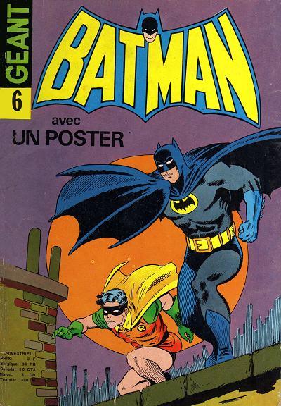 Couverture de Batman Géant (Sagédition - 1re série) -6- La vengeance du disparu