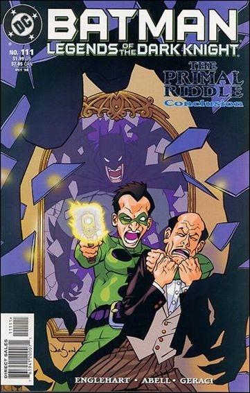 Couverture de Batman: Legends of the Dark Knight (1989) -111- The primal riddle part 3 : a dumpster of chèrées