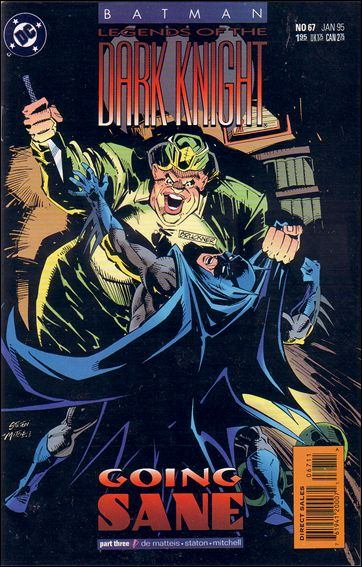 Couverture de Batman: Legends of the Dark Knight (1989) -67- Going sane part 3 : breaking the surface