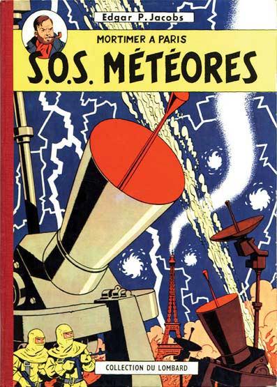 Couverture de Blake et Mortimer (Historique) -7- S.O.S. Météores - Mortimer à Paris
