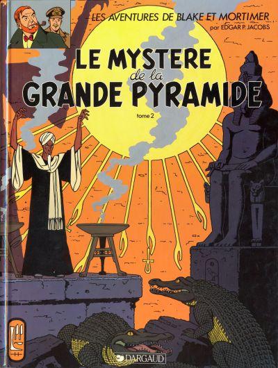 Couverture de Blake et Mortimer -5- Le mystère de la grande pyramide T2