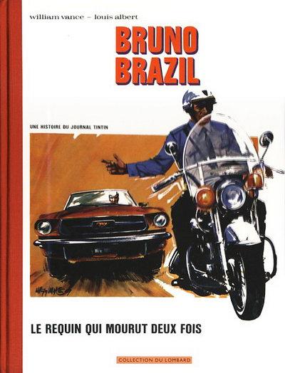 Couverture de Bruno Brazil -1+2- Le requin qui mourut deux fois / Commando Caïman