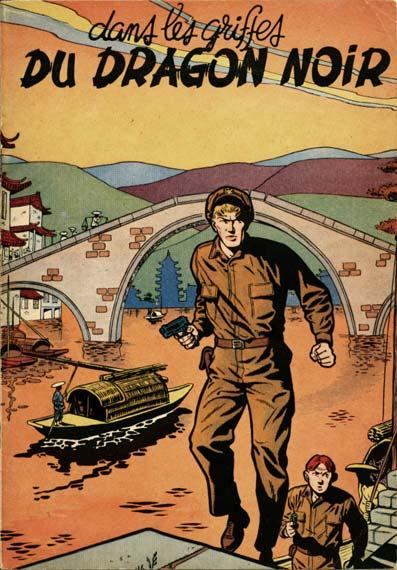 Couverture de Buck Danny -5- Dans les griffes du Dragon Noir