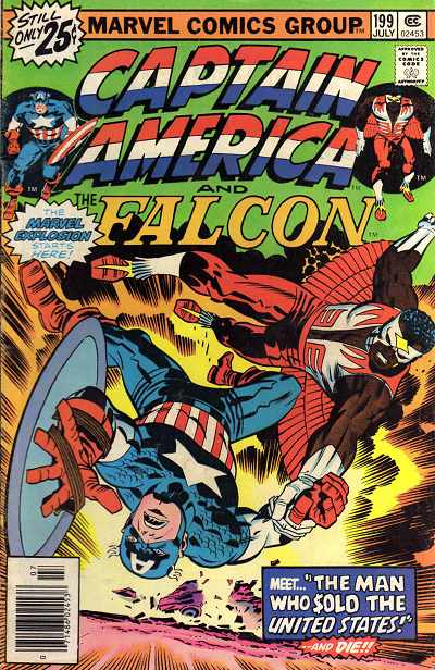 Couverture de Captain America (Marvel comics - 1968) -199- The man who sold the United States !