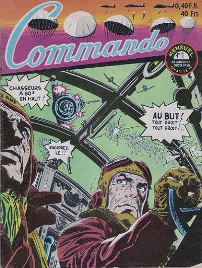 Couverture de Commando (1re série - Artima) -1- Pousser des boutons