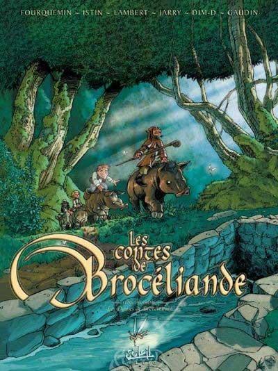 Couverture de Les contes de Brocéliande -3- Livre troisième: Les Dames de Brocéliande