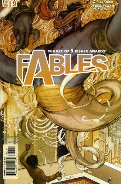 Couverture de Fables (2002) -43- Arabian nights (and days), chapter two: d'jinn & tonic with a twist