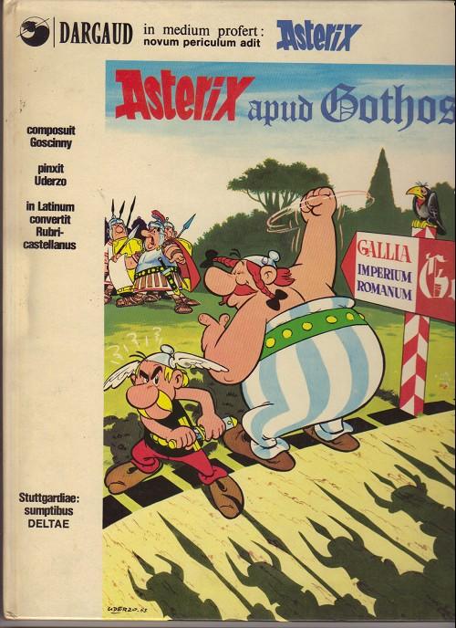 Couverture de Astérix (en latin) -3- Asterix apud gothos