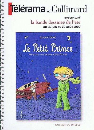 Couverture de Le petit Prince (Sfar) -DP- Dossier de presse