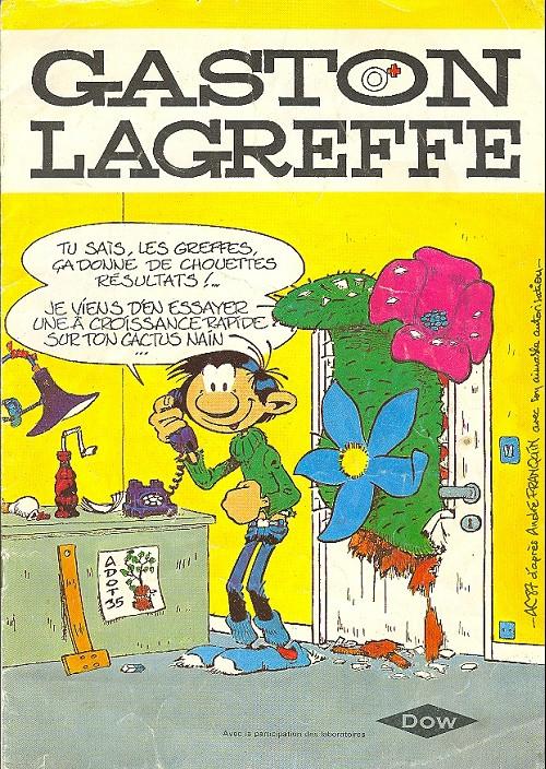 Couverture de Gaston (Hors-série) -Pub- Gaston Lagreffe