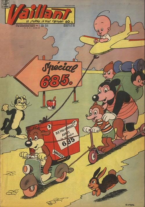 Couverture de Vaillant (le journal le plus captivant) -684- Vaillant