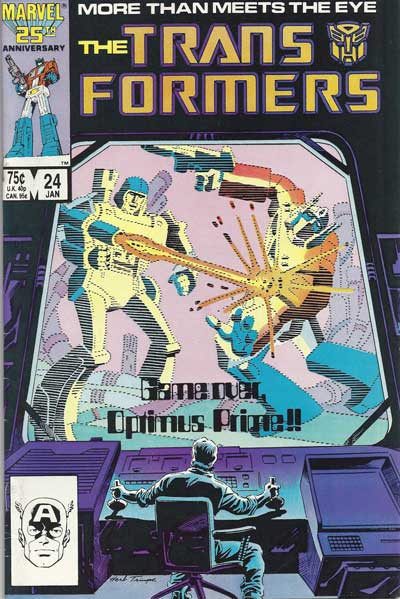 Couverture de Transformers (The) (1984) -24- Game over, optimus prime !!