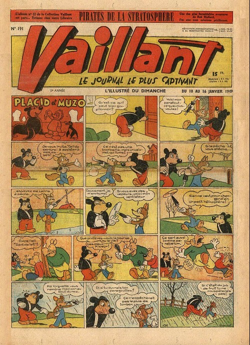 Couverture de Vaillant (le journal le plus captivant) -191- Vaillant