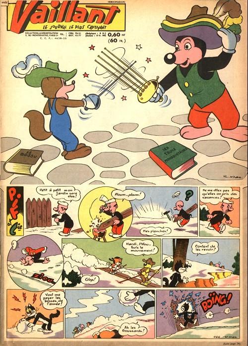 Couverture de Vaillant (le journal le plus captivant) -766- Vaillant