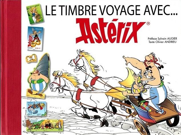 Couverture de Astérix (Autres) -Timbre2- Le timbre voyage avec... Astérix